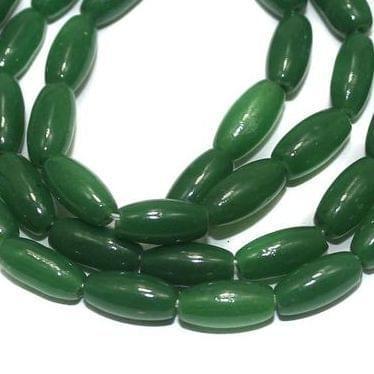 Jaipuri Beads Light Green Oval 5 Strings 6x4mm