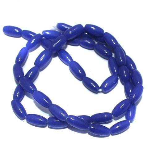 Jaipuri Beads Blue Oval 5 Strings 9x4mm