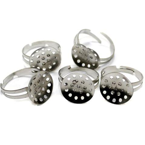 20 Finger Ring Base Silver 20mm