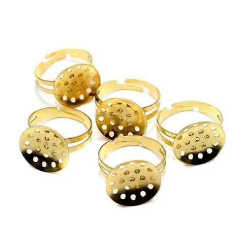 20 Finger Ring Base Golden 20mm