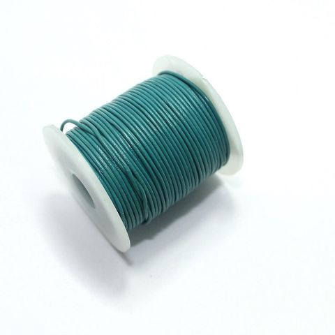 Jewellery Making Leather Cord 1mm Teal-25 Mtr