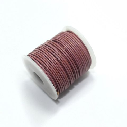 Jewellery Making Leather Cord 1mm Light Purple-25 Mtr