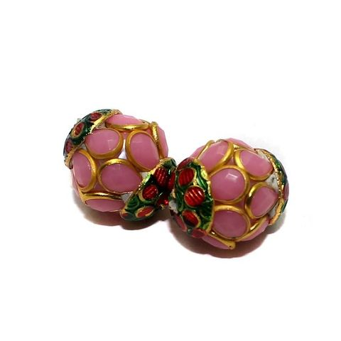 2 Pacchi RONDELLE Beads Pink 13x15mm