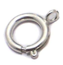 20 Pcs. German Silver Spring Ring Clasp 18x16mm