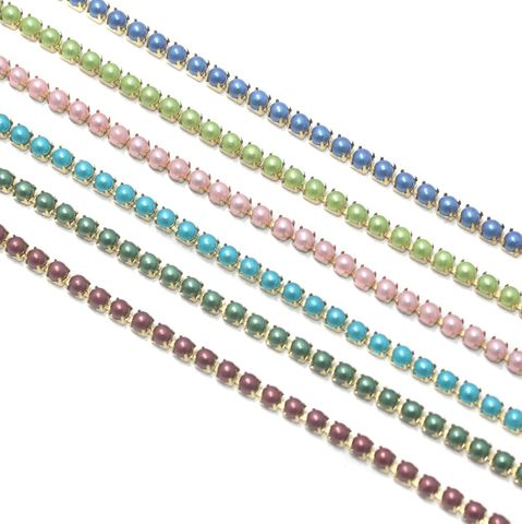 Jewellery Making Colorful Pearl Chain Combo 6 Colors (3)