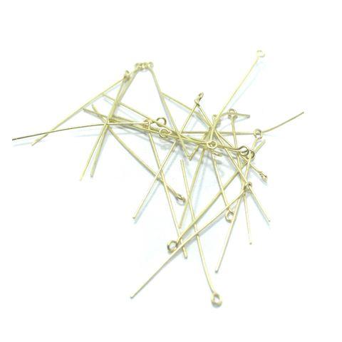 500 Pcs. German Silver Golden Eye Pins 2 Inch