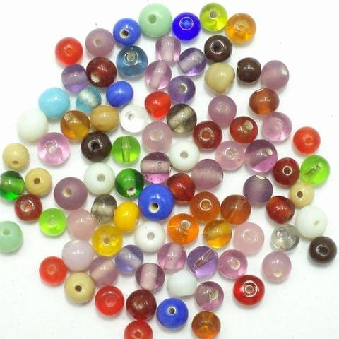 10000+ Glass Round Beads Assorted 4 mm