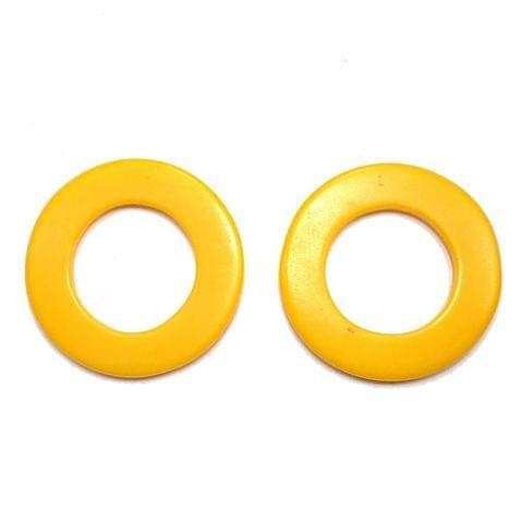 10 Resin Round Pendant Yellow 50 mm