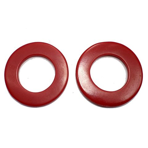 10 Resin Round Pendant Red 50 mm