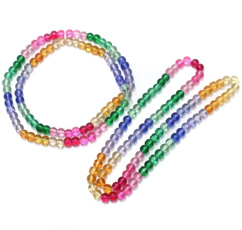 6mm Multicolored Round Beads 2 Strings