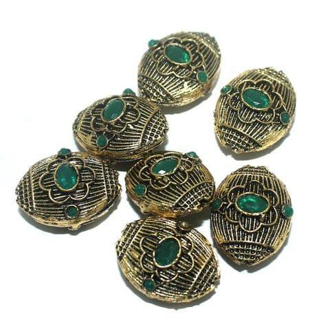 10 Pcs. German Silver Beads 22x16 mm