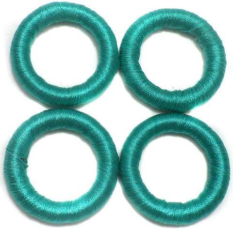 20 Crochet Rings Teal 30 mm