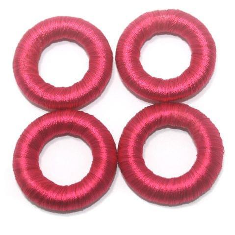 25 Pcs. Crochet Ring Hot Pink 36 mm