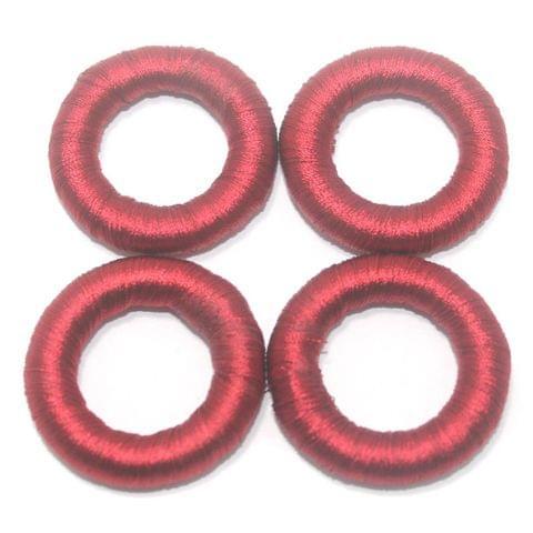 25 Pcs. Crochet Ring Maroon 36 mm