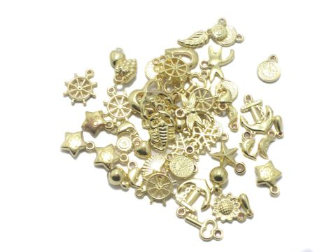 100 Gm CCB Pendant Charms Golden Mix