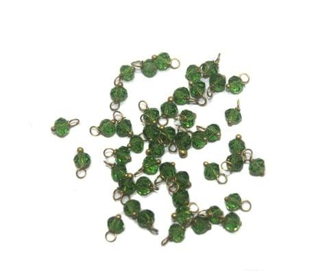 500 Faceted Loreal Beads Trans Green 4 mm