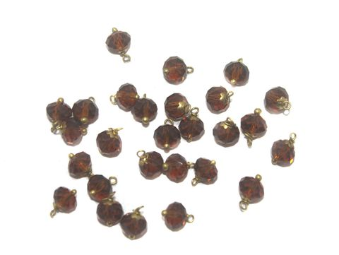 200 Faceted Loreal Beads Trans Topaz 8 mm
