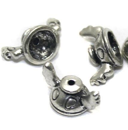 20 German Silver Beads Cap 14x5mm