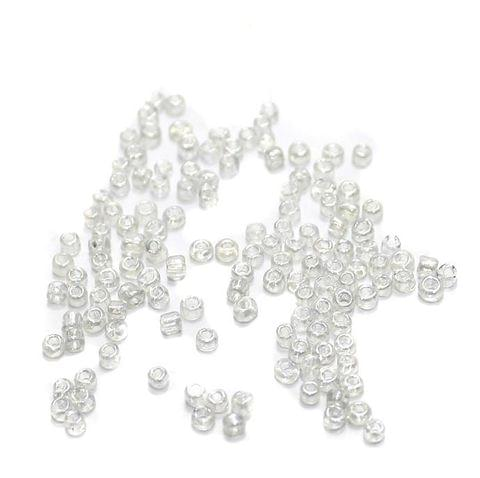 100 Gm Seed Beads White Trans 11/0 size
