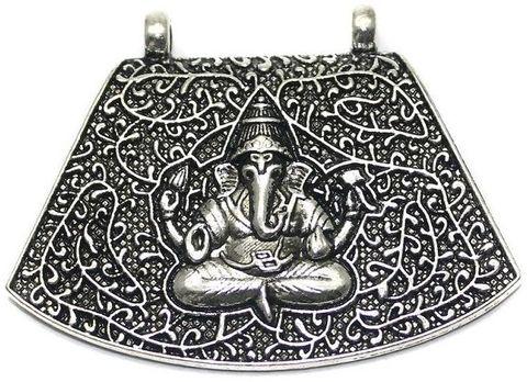 2 German Silver Pendant Lord Ganesh 45x60mm