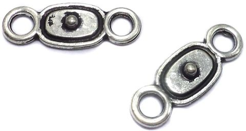 20 German Silver Connector Charms 22x6mm