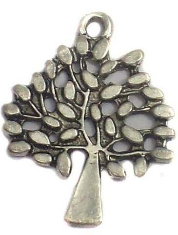 10 German Silver Tree charms Pendant 30x20mm