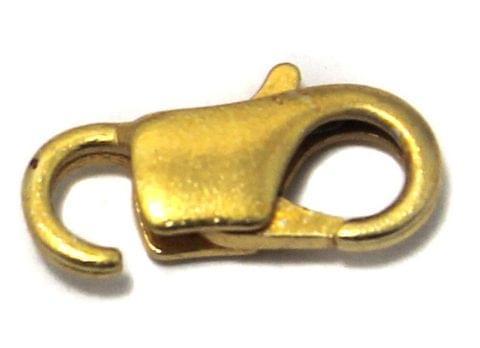 Lobster Clasp Golden 14x7 , 25 Pcs