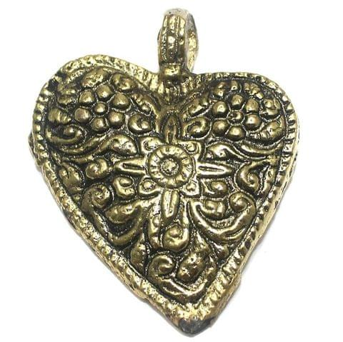 Metal Pendant Golden 56x46mm