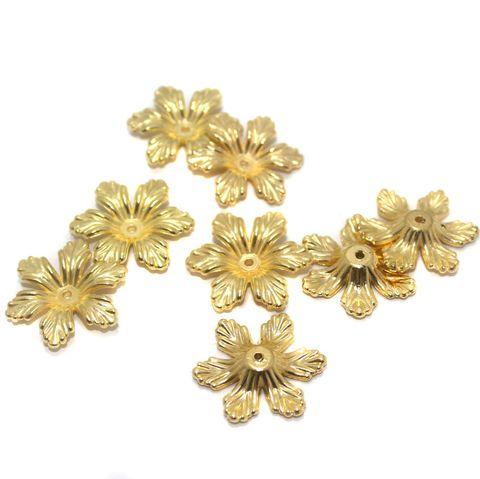 Jewellery Making Acrylic Bead Caps Golden, Size 25x5 mm, Pack Of 50 Pcs