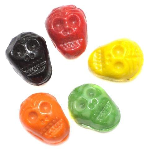 5 Skull Beads Assorted 20x15mm