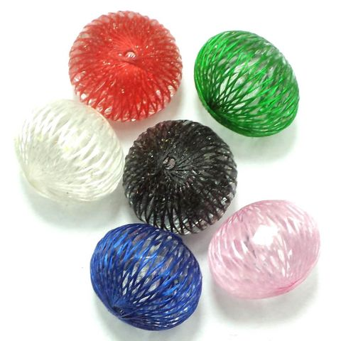 10 Acrylic RONDELLE Beads Assorted 15x20mm