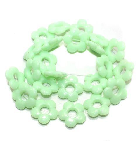 40+ Acrylic Flower Beads Pridot 18mm
