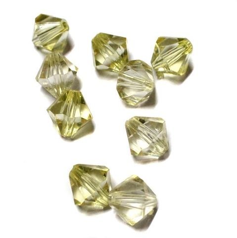 18+ Acrylic Faceted Bicone Beads Yellow 16x16mm