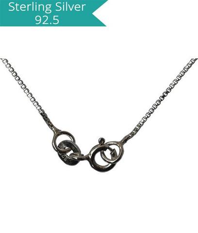 Sterling Silver Box Chain - 45 cm