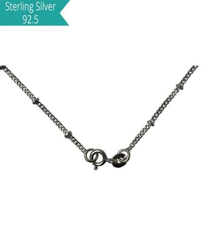 Sterling Silver Disco Chain - 45 cms