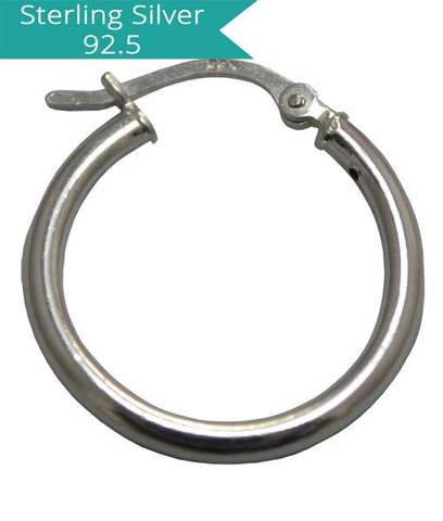 50mm Sterling Silver Creole with Lock