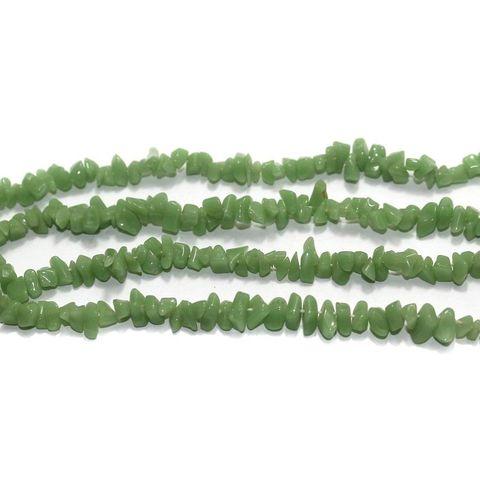 220+ Glass Chips Green 5-8mm
