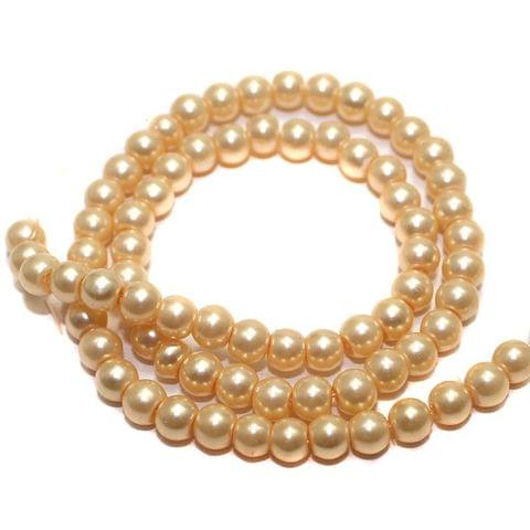 85+ Glass Pearl Round Beads Ivory 5mm