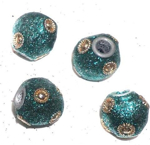 20 Pcs. Lac RONDELLE Beads Teal 14mm