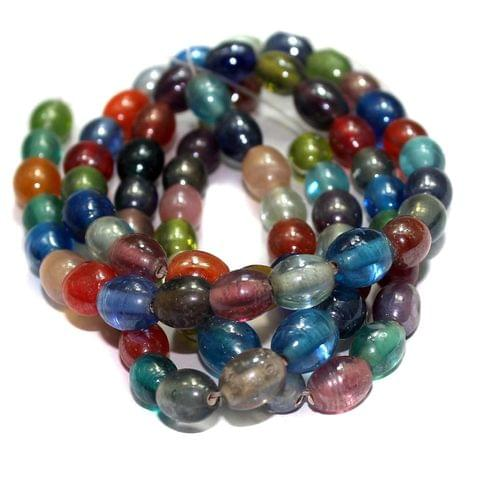 5 strings Glass Oval Beads Assorted 10x8mm