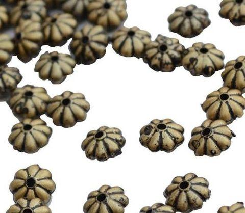 Buy 1 Get 1 Free Floral Antique Golden golden beads