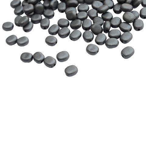 Steel Grey Oval beads
