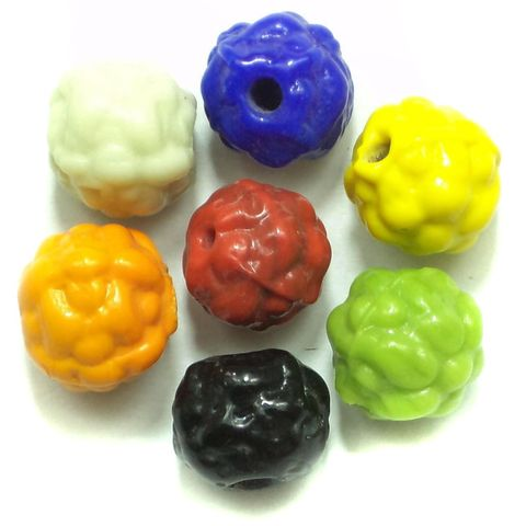 36+ Emboss Beads Assorted 14mm