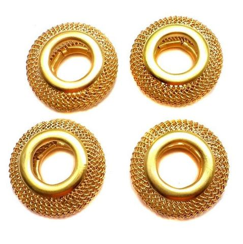 10 Pcs. Metal Beads Golden 20mm