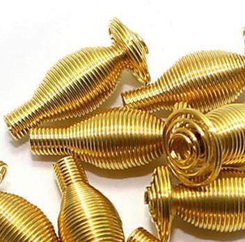 100 Metal Golden Spring Beads 16x6mm