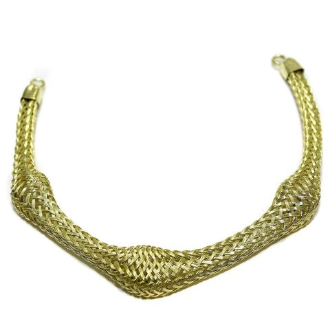 Necklace Collar Golden 8.5 Inch