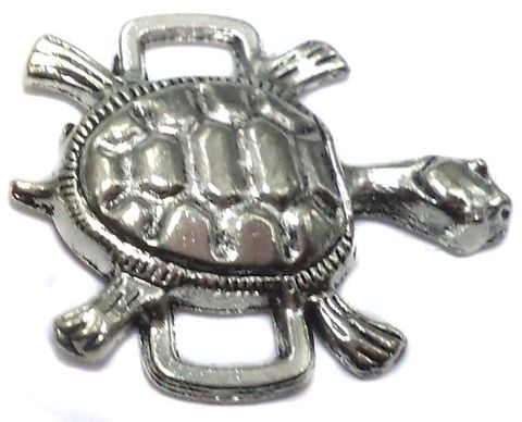 8 German Silver Tortoise Connectors 25x21mm