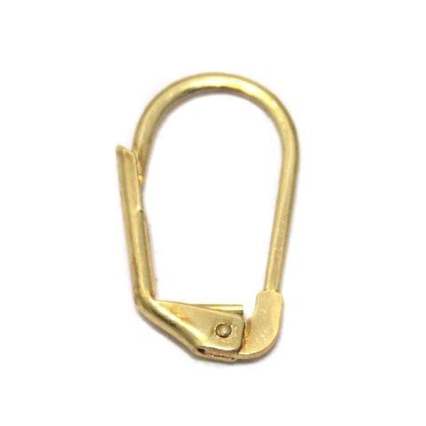 10 Pair Ear Wire Golden 17x10mm