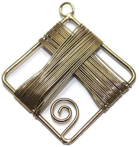 2 Pair Earring Components Wire Wrap Bronze 50x50 mm