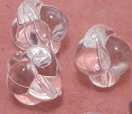 50 Pcs. Acrylic Flower Beads Trans White 17mm